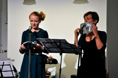 Jessica Wilkinson and Jenny Barnes perform marionette. Photo by Mandy Kitchener.