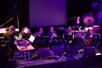 Decibel performing Alvin Curran, THNMF13 photo Brad Serls