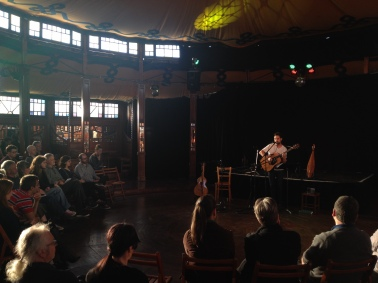 "Chris Rainier at the ""Melba"" Spiegeltent. Photo by Matthew Stanton"