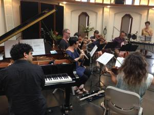 Ensemble Offspring and Ironwood perform Broken Consorts at the Baha'i Centre, Hobart. Photo courtesy of the ensemble.