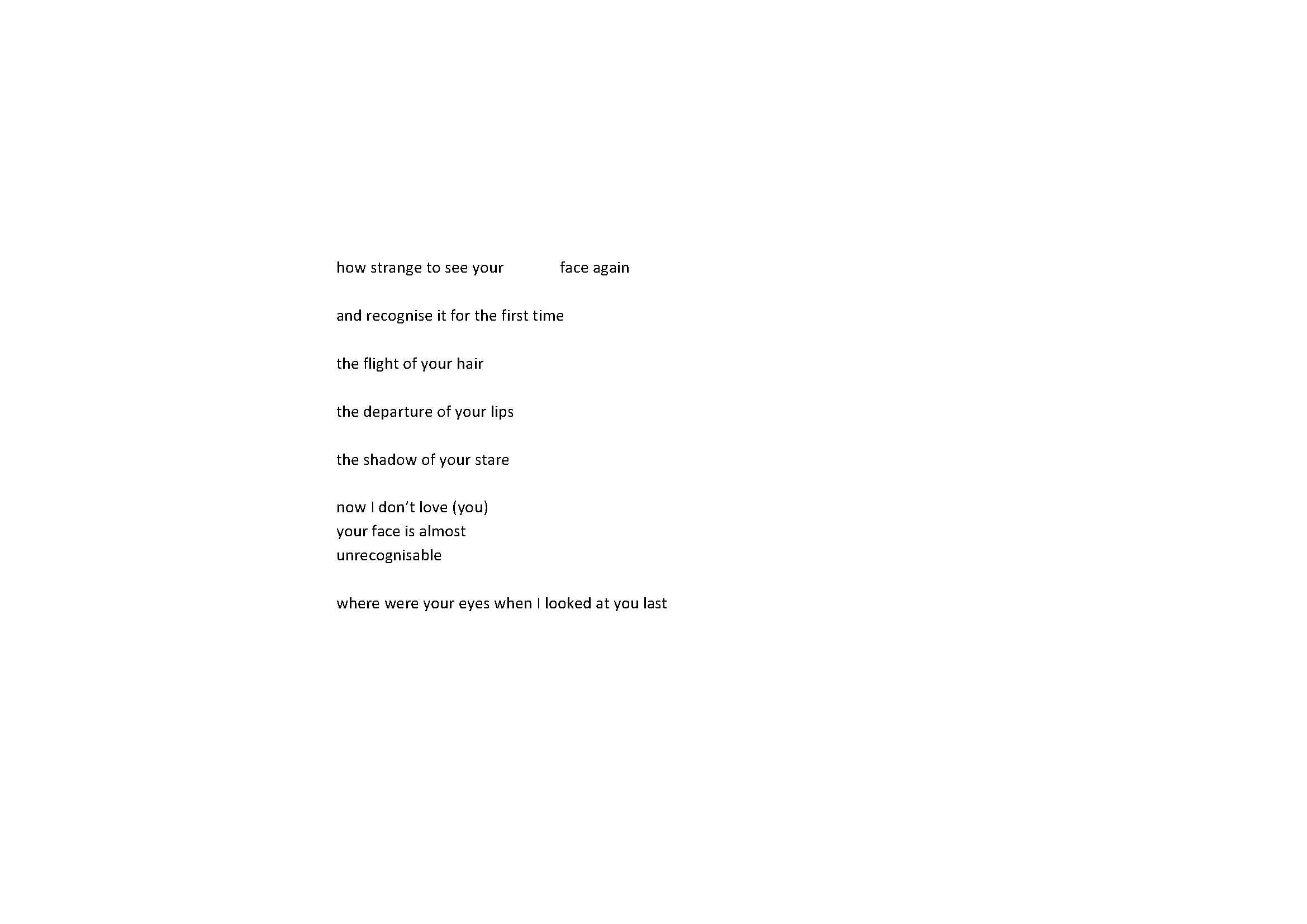 Turbulence poem