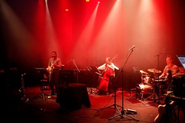 The Argonaut Ensemble perform Alexander Schubert's Superimpose Cycle. Photo by Jason Tavener.