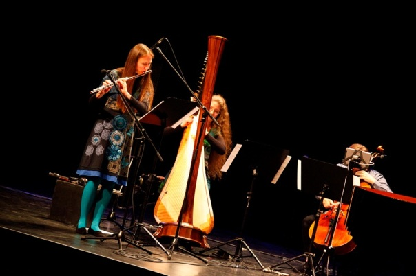 Defunensemble perform at the Ulumbarra Theatre. Photo by Jason Tavener